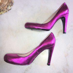 New! Marc Jacobs metallic pink pumps / high heels